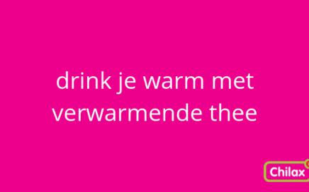 verwarmende thee